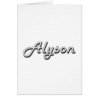 Alyson Classic Retro Name Design Greeting Card