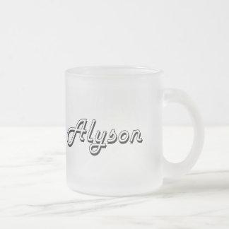 Alyson Classic Retro Name Design Frosted Glass Mug