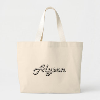 Alyson Classic Retro Name Design Jumbo Tote Bag
