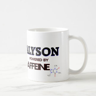 Alyson powered by caffeine basic white mug