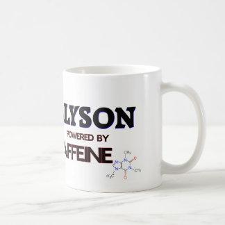 Alyson powered by caffeine coffee mug
