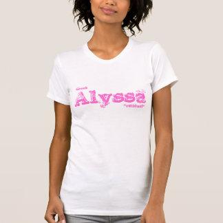Alyssa Birth Name Tshirt