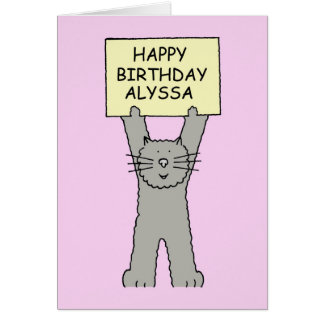 Alyssa Happy Birthday Card