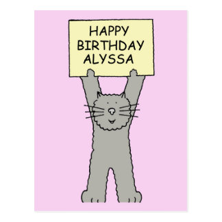 Alyssa Happy Birthday Postcard