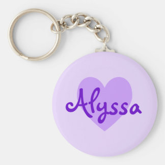Alyssa in Purple Key Ring