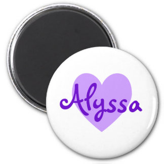 Alyssa in Purple Magnet