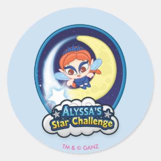 Alyssa's Star Challenge Classic Round Sticker