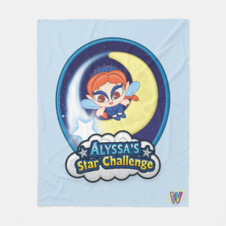 Alyssa's Star Challenge Fleece Blanket