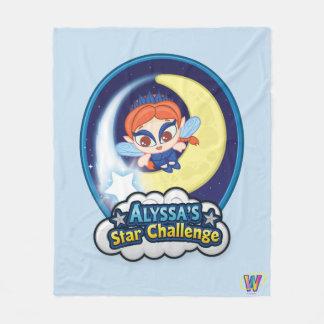 Alyssa's Star Challenge Fleece Blanket
