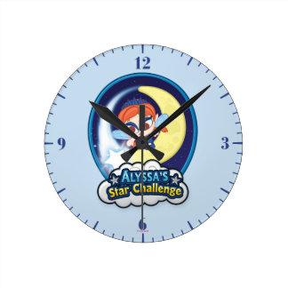 Alyssa's Star Challenge Round Clock