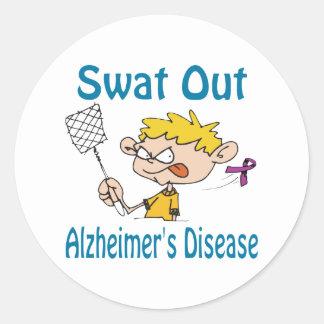 Alzheimer&Apos;S-Disease Round Sticker