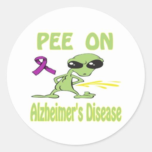 Alzheimer&Apos;S Disease Round Stickers