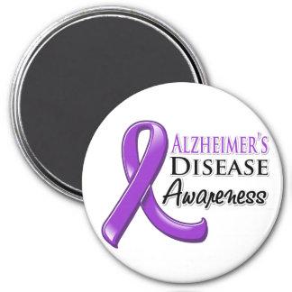 Alzheimer's Disease Awareness Ribbon 7.5 Cm Round Magnet