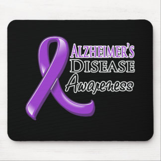 Alzheimer's Disease Awareness Ribbon Mouse Pad