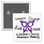 Alzheimer's Disease Celtic Butterfly 3 15 Cm Square Badge