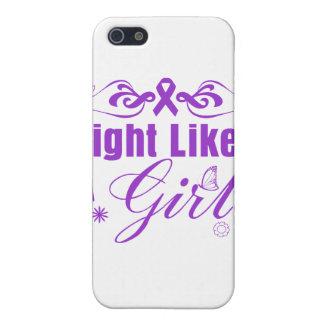 Alzheimer's Disease Fight Like A Girl Ornate Case For iPhone 5/5S