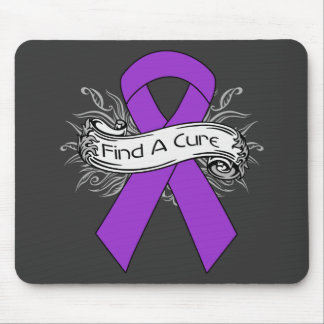 Alzheimer's Disease Find A Cure Ribbon Mouse Pads