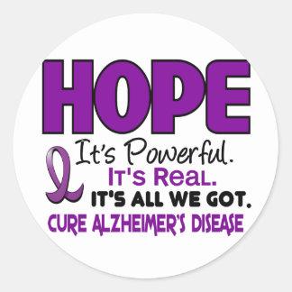 Alzheimer's Disease HOPE 1 Stickers