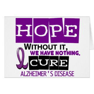 Alzheimer's Disease HOPE 2 Greeting Cards