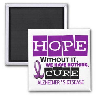 Alzheimer's Disease HOPE 2 Refrigerator Magnet