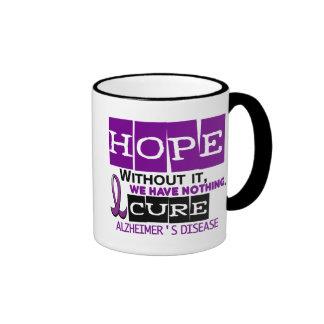 Alzheimer's Disease HOPE 2 Coffee Mugs