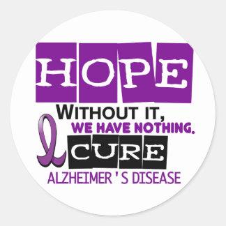 Alzheimer's Disease HOPE 2 Round Sticker