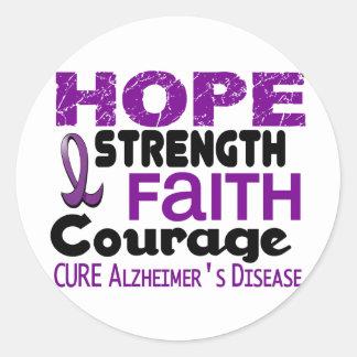 Alzheimer's Disease HOPE 3 Classic Round Sticker