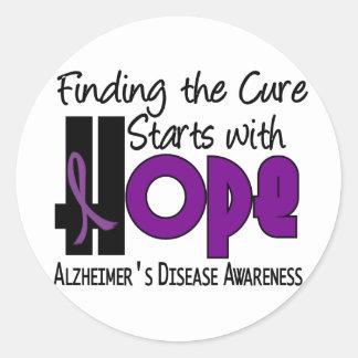 Alzheimer's Disease HOPE 4 Round Sticker