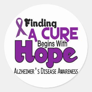 Alzheimer's Disease HOPE 5 Stickers