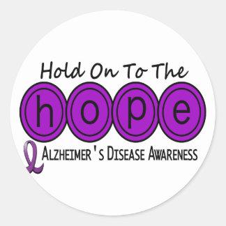 Alzheimer's Disease HOPE 6 Stickers