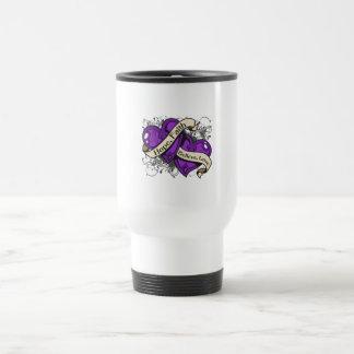 Alzheimer's Disease Hope Faith Dual Hearts Coffee Mugs