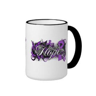 Alzheimer's Disease Hope Garden Ribbon Coffee Mug