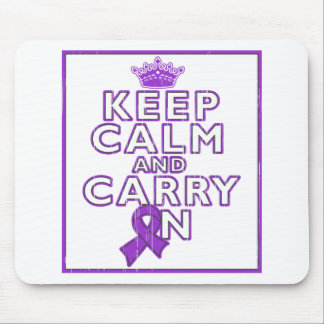 Alzheimer's Disease Keep Calm and Carry ON Mouse Pad