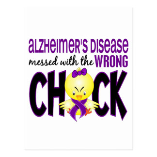 Alzheimer s Disease Messed With The Wrong Chick Postcard