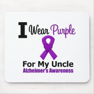 Alzheimer s Disease Purple Ribbon Uncle Mouse Mats