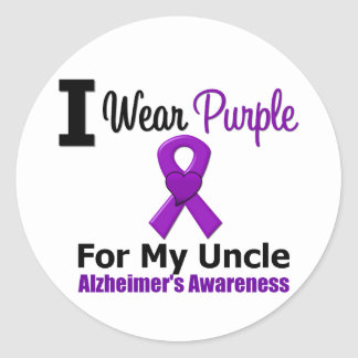 Alzheimer s Disease Purple Ribbon Uncle Sticker