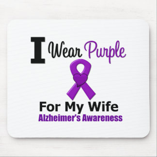 Alzheimer s Disease Purple Ribbon Wife Mouse Pad