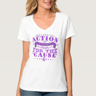 Alzheimer's Disease Take Action Fight Tee Shirts