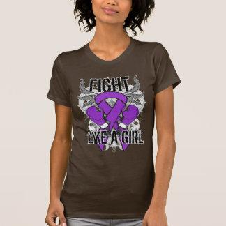 Alzheimer's Disease Ultra Fight Like A Girl Tshirts