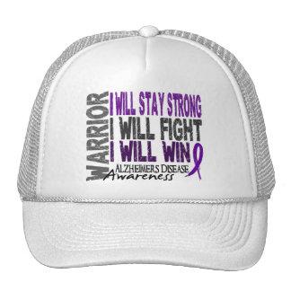 Alzheimer s Disease Warrior Trucker Hat