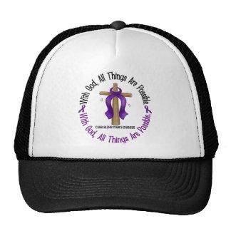 Alzheimer s Disease WITH GOD CROSS 1 Hat