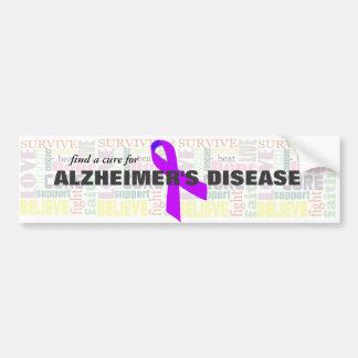 Alzheimer s Inspirational Words Bumper Stickers