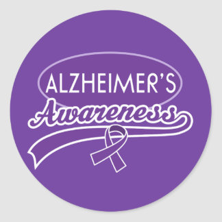 Alzheimer s Purple Ribbon sticker seals