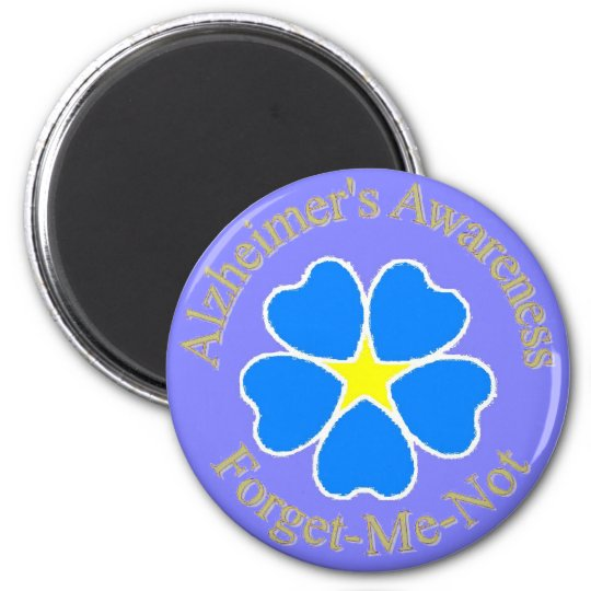 Alzheimer's Awareness forget me not 6 Cm Round