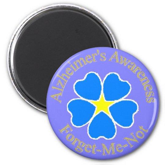 Alzheimer's Awareness forget me not Magnet