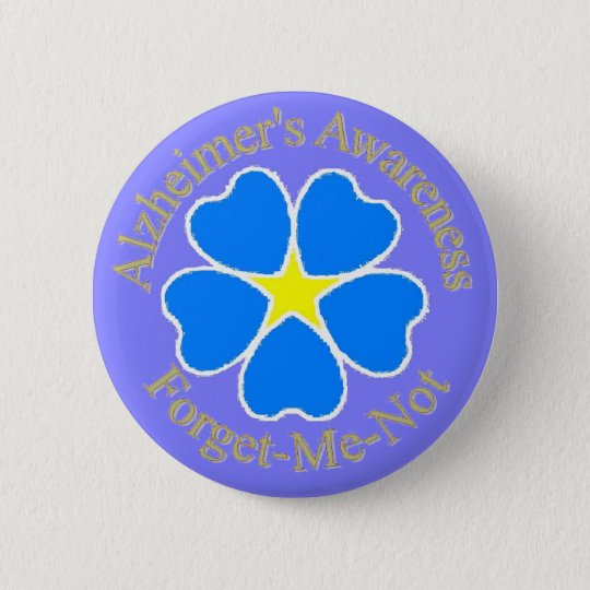 Alzheimer's Awareness Forget me not Ylw 6 Cm