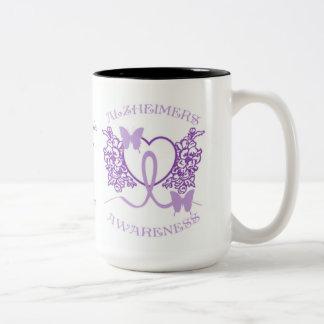 Alzheimers Awareness Purple Butterflies Mug