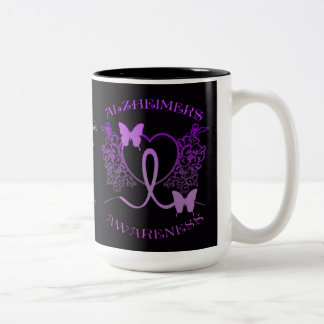 Alzheimers Awareness Purple Butterflies Mug 2