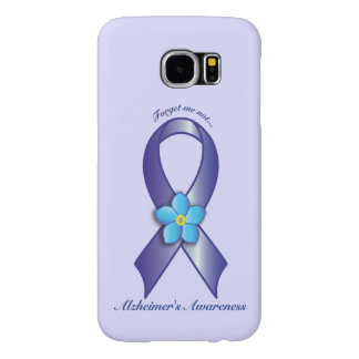Alzheimer's Awareness Ribbon with Forget Me Not Samsung Galaxy S6 Cases
