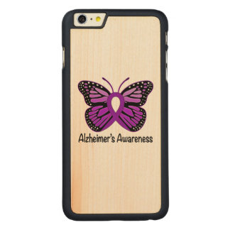 Alzheimer's Butterfly Awareness Ribbon Carved® Maple iPhone 6 Plus Case